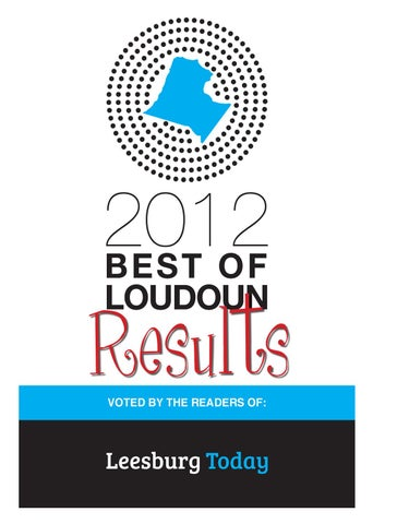 Sensational 2012 Best Of Loudoun Poll Results By Insidenova Issuu Gmtry Best Dining Table And Chair Ideas Images Gmtryco