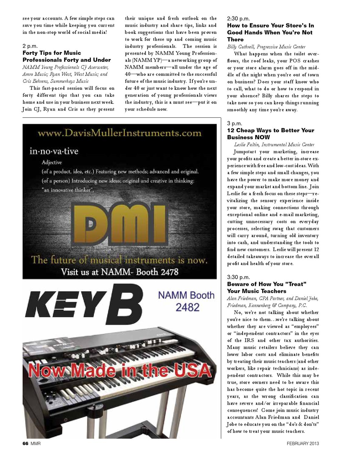 MMR February 40 by MMR   Musical Merchandise Review   issuu