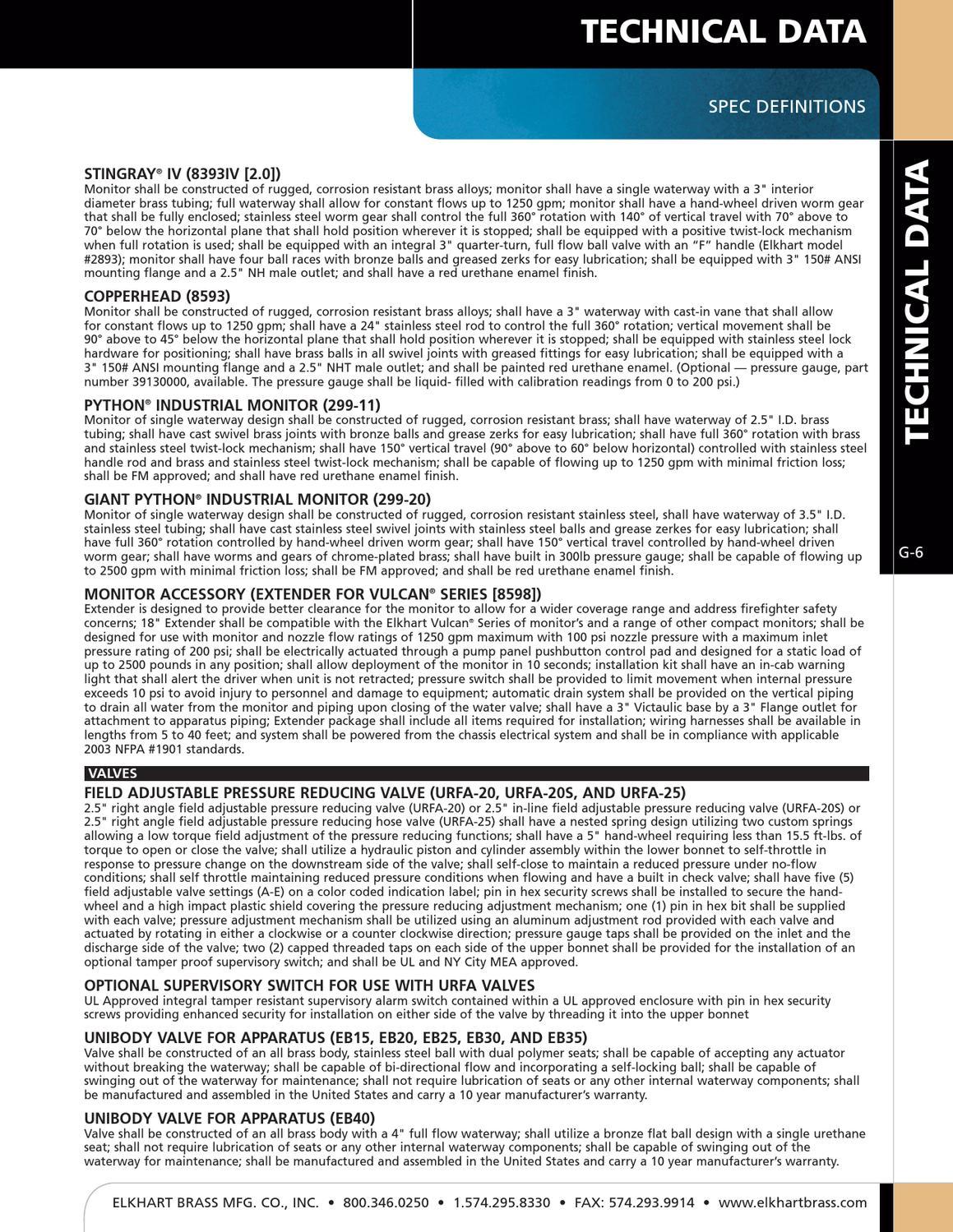 Elkhart Brass Fire Fighting Equipment Full Line Catalog 2012