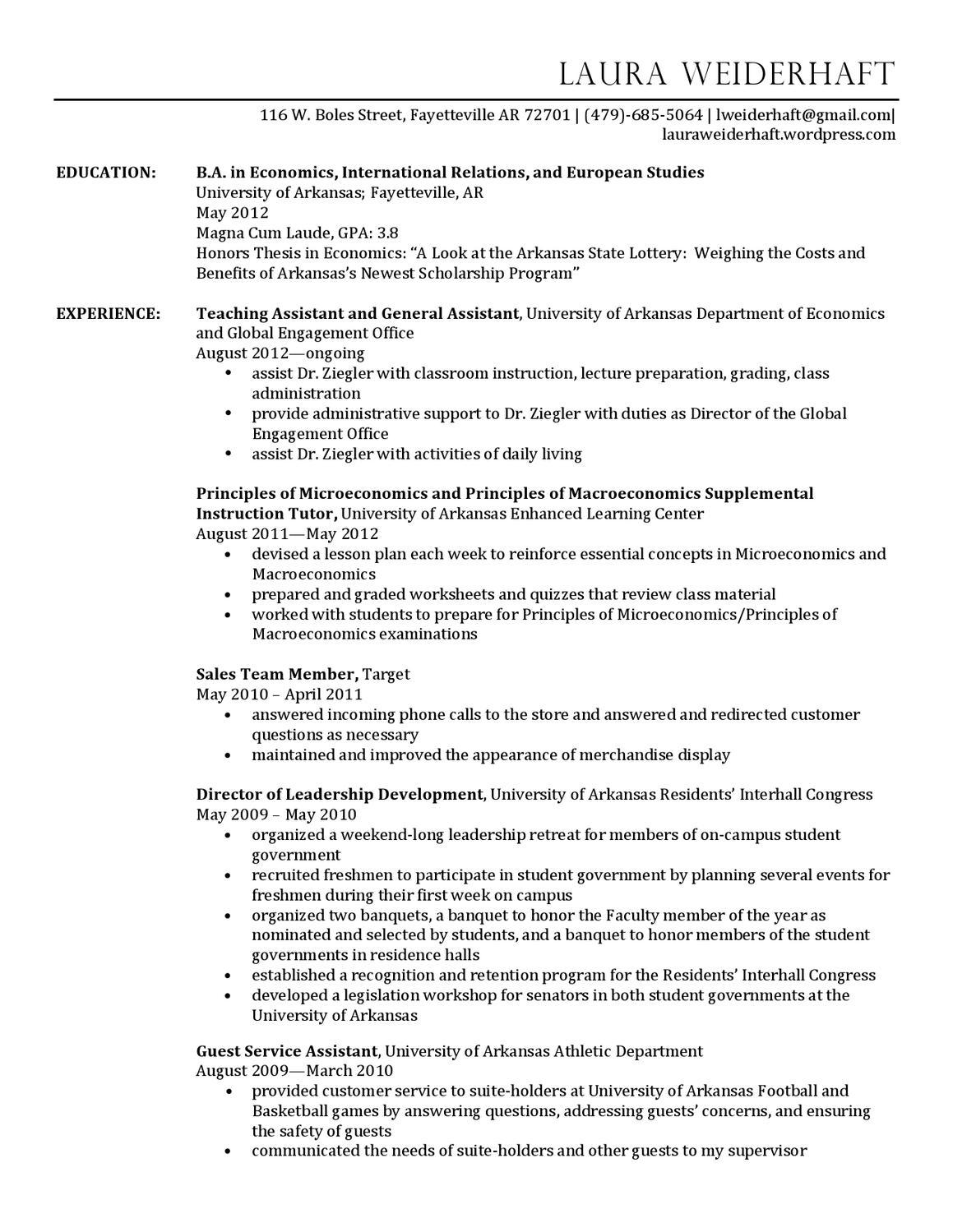 Best Resume Center Uark Pictures Inspiration - Professional Resume ...