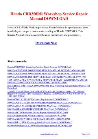 honda cbr250rr workshop service repair manual by lan huang. Black Bedroom Furniture Sets. Home Design Ideas