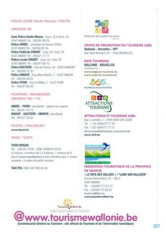 Dinant et la haute meuse guide touristique 2013 by maison du tourisme vall e de la meuse namur - Office de tourisme dinant ...