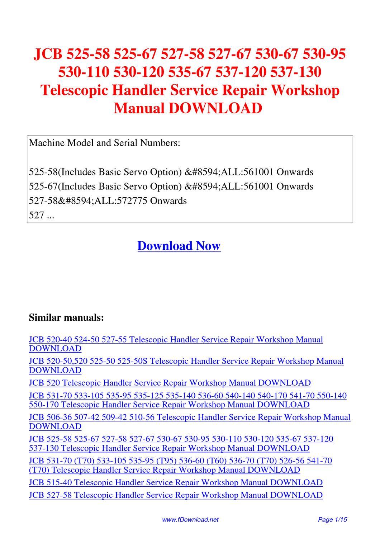Jcb 525 67 Manual