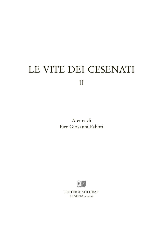 Le Vite Dei Cesenati Volume 2 By Le Vite Dei Cesenati Issuu