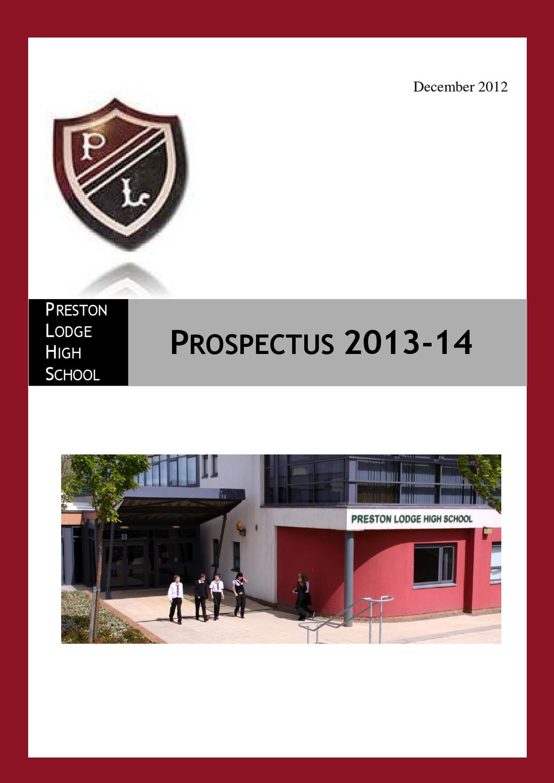 PLHS Prospectus 2013-14 by Preston Lodge High School - Issuu