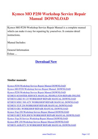kymco mo p250 workshop service repair manual by yang rong. Black Bedroom Furniture Sets. Home Design Ideas