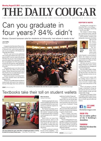 2d Best Back To School Issue The Daily Cougar By The Daily Cougar