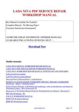 lada niva service repair workshop manual by yang rong issuu lada niva workshop manual download lada niva 21214 service manual