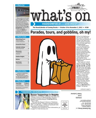 Whats on haddonfield 538 by david hunter issuu page 1 malvernweather Choice Image