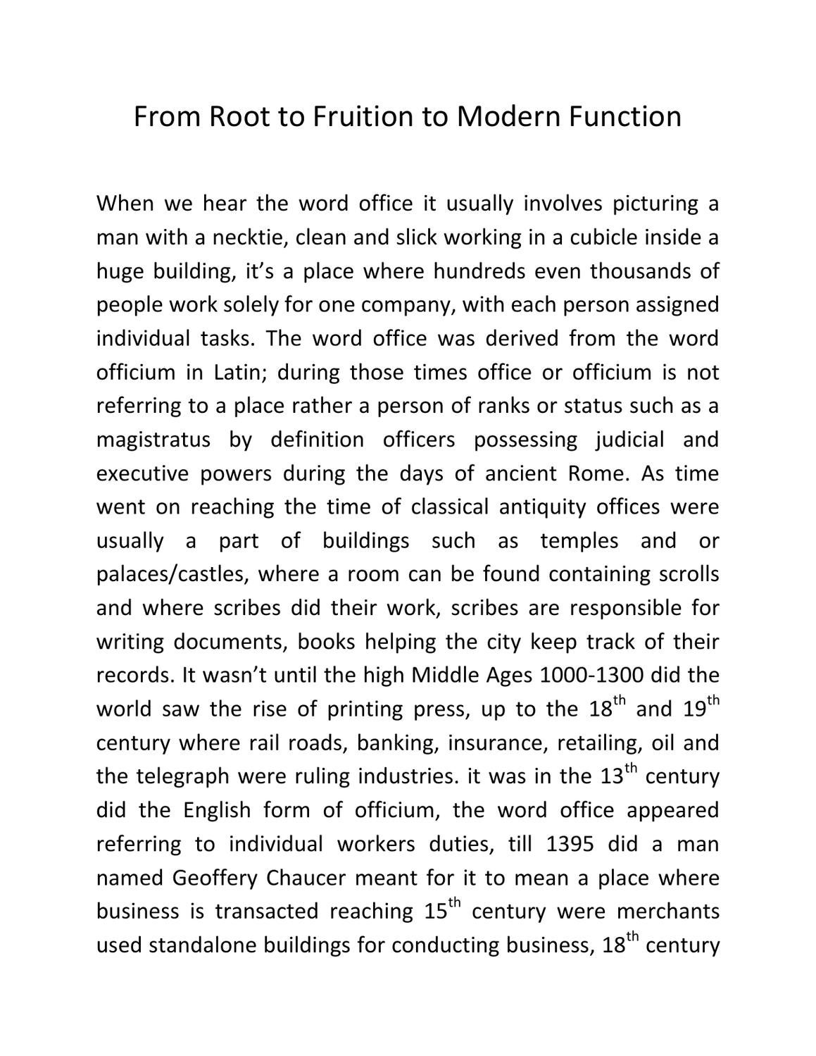 From Root To Fruition To Modern Function By Lester Sadlier   Issuu