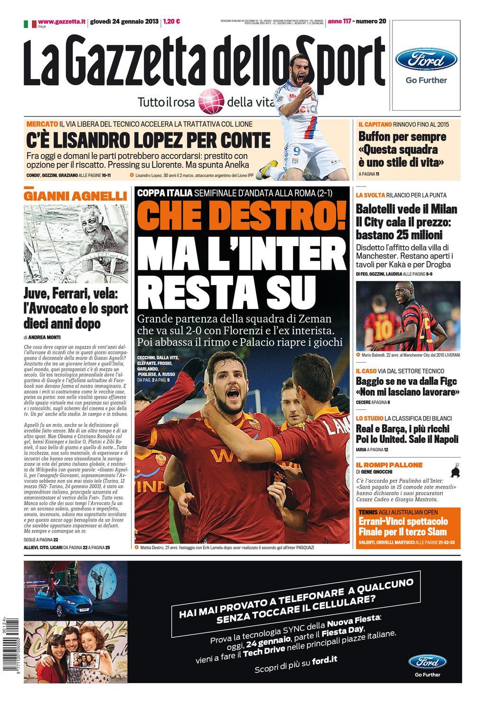 Gazzetta Dello Sport 24-01-2013 by ACMilanArabic - issuu b181d25d121