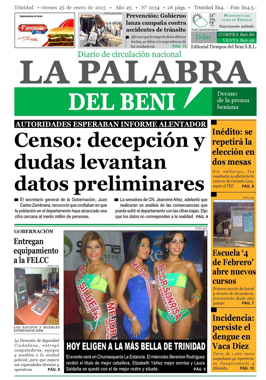 La Palabra Del Beni 25 De Enero De 2013 By La Palabra Del Beni  # Muebles Tudela Cochabamba