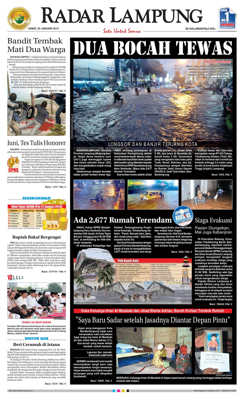 Radar Lampung Jumat 25 Januari 2013 By Ayep Kancee Issuu Produk Ukm Bumn Sulam Usus Pmk