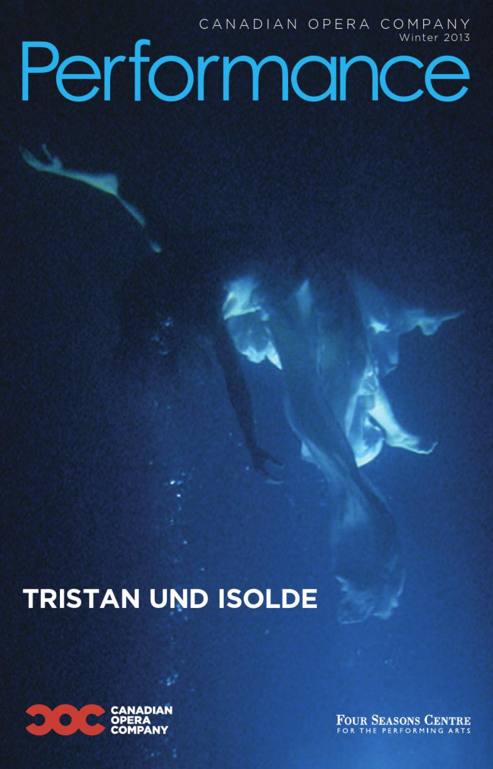 Tristan und Isolde House Program by Canadian Opera Company