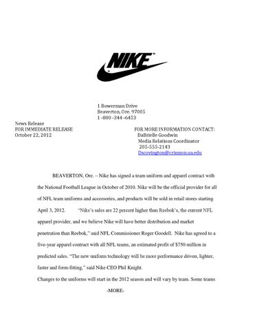 News Release FOR IMMEDIATE RELEASE October 22, 2012