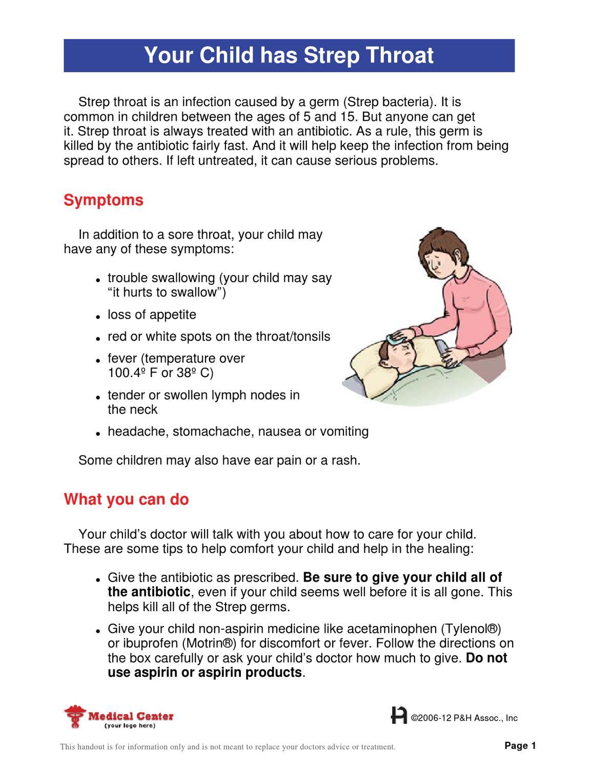 your child has strep throat by pritchett & hull associates, inc. - issuu