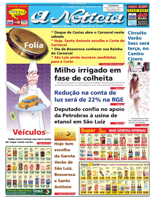 ad1f01da40fe6 Edição de 26 e 27 de janeiro de 2013 by Jornal A Notícia - issuu