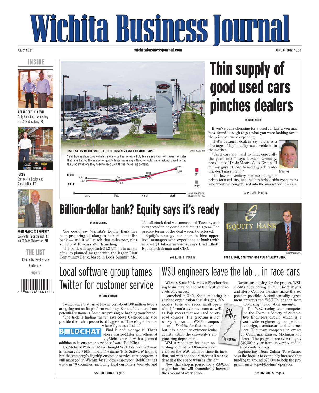 June 8, 2012 Wichita Business Journal By Bill Roy