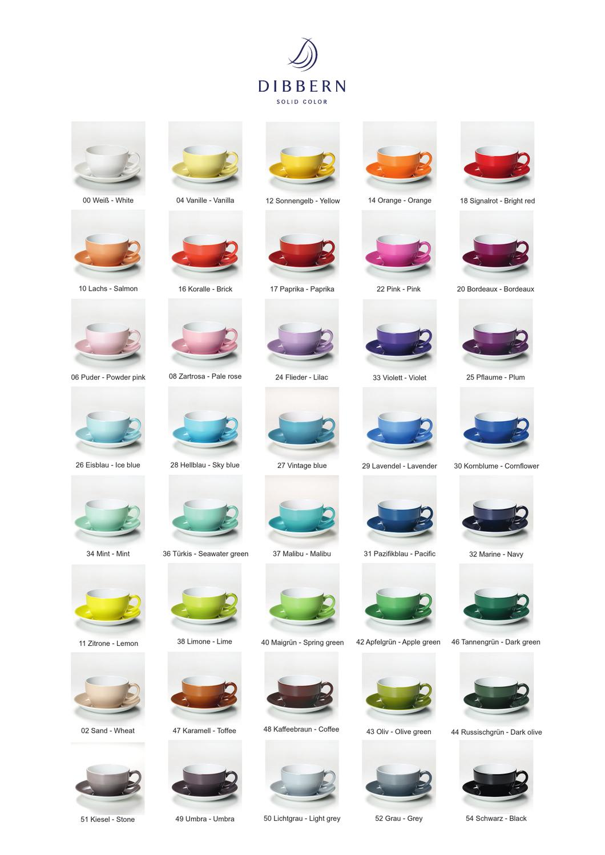 dibbern solid color porzellan farbkarte by bernd laubmann. Black Bedroom Furniture Sets. Home Design Ideas