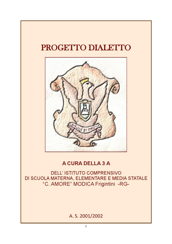 Poesie Di Natale In Dialetto Siciliano.Progetto Dialetto By Matteo Rizza Issuu