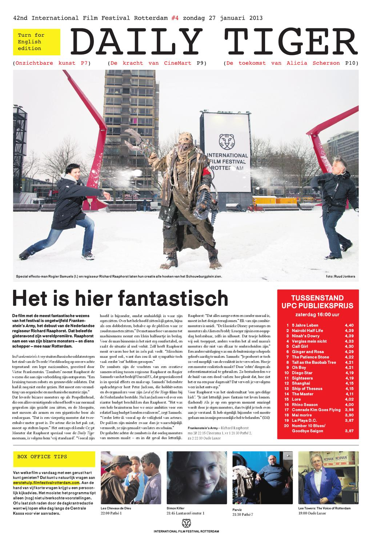 Daily Tiger 4 By International Film Festival Rotterdam Issuu