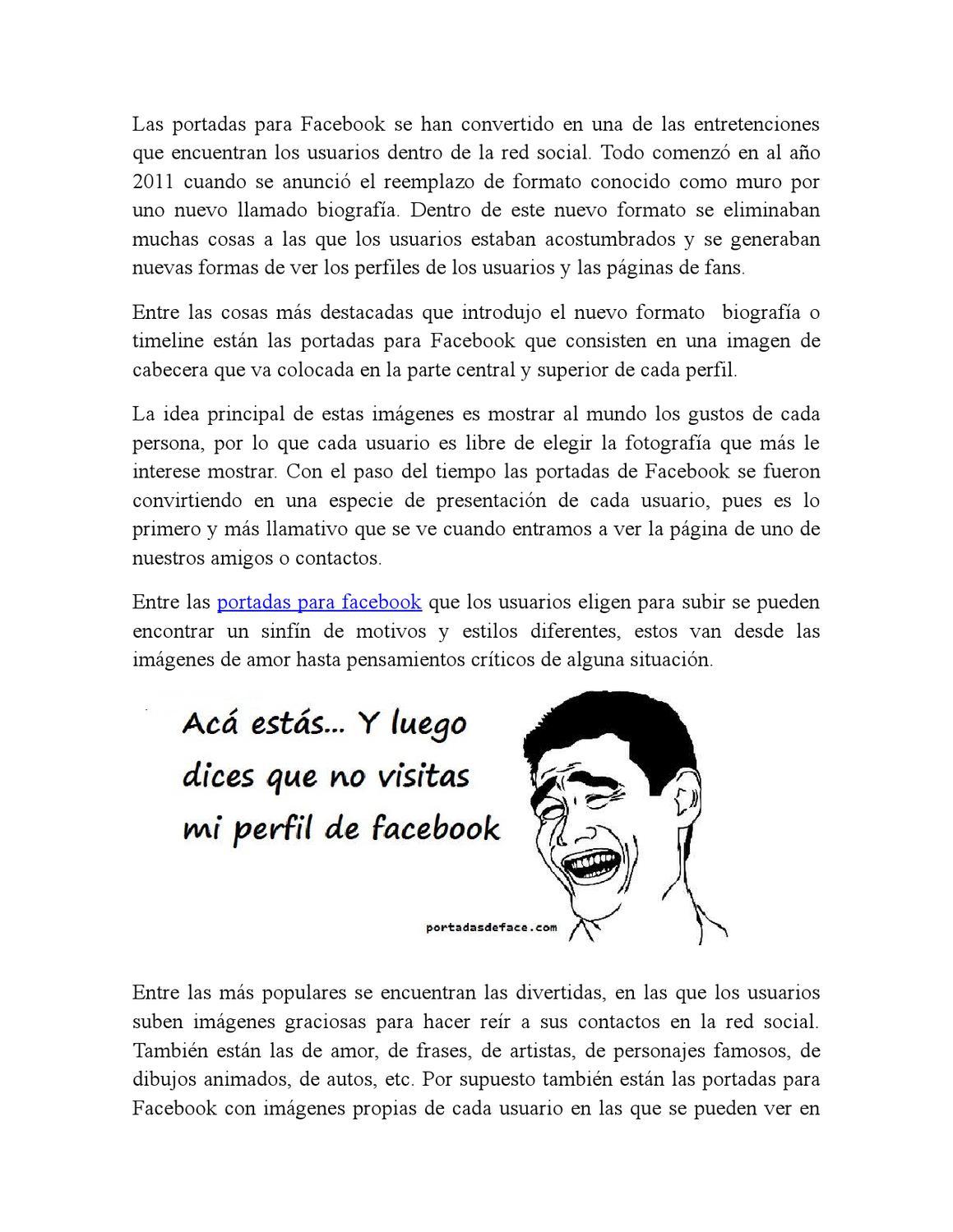Portadas Para Facebook By Makarena Diaz Issuu