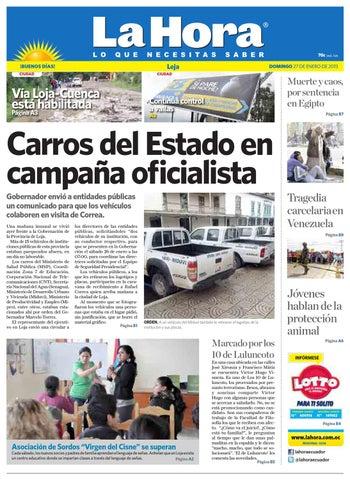 Diario La Hora Loja 27 De Enero 2013 By La Hora Ecuador Issuu