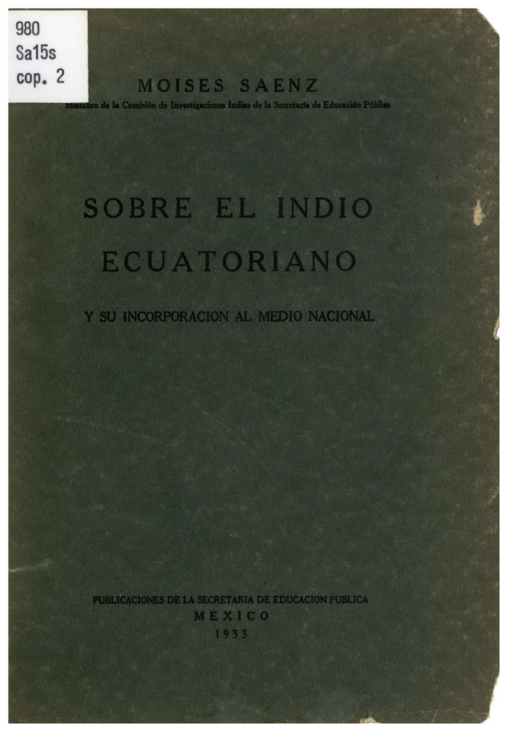 El indio ecuatoriano by Alma Villagran - issuu