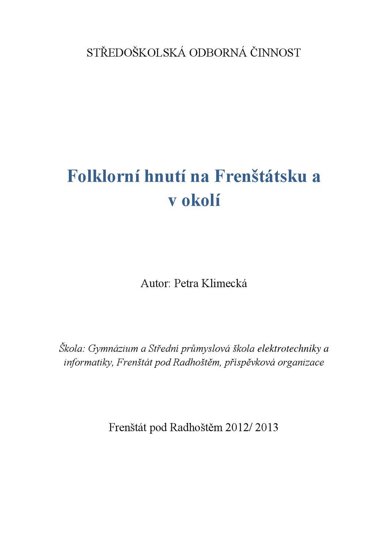 f6744ecf048 Folklorni hnuti na Frenstatsku a v okoli by Monika Zihlova - issuu