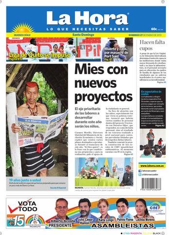Edición Impresa Santo Domingo Del 27 De Enero De 2013 By La Hora Ecuador Issuu