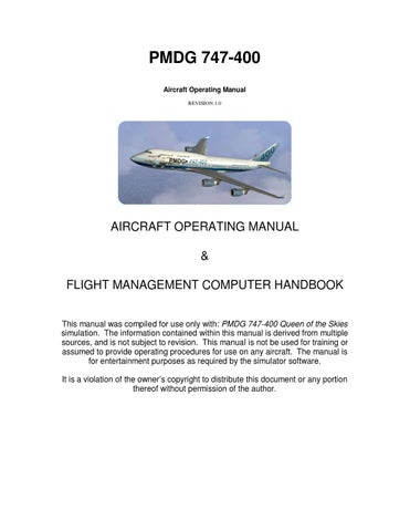 pmdg boeing 747 400 operating manual by thamer alahaimer issuu rh issuu com 747 owners manual 747 operating manual