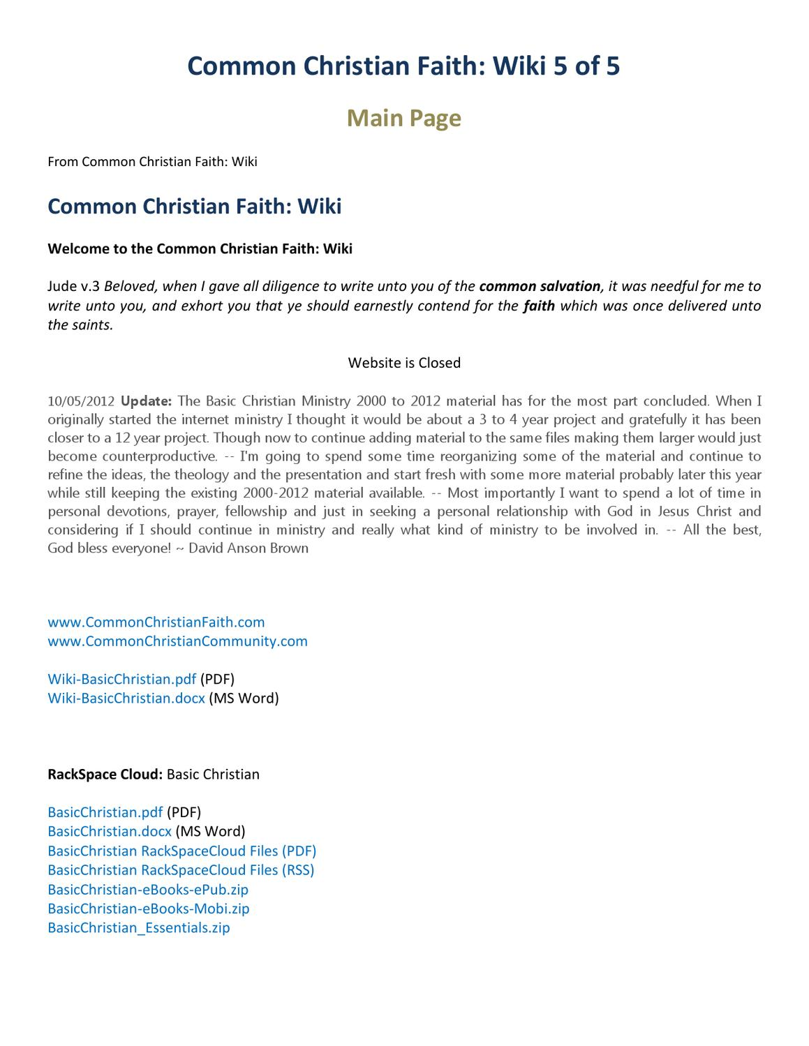 Common christian faith wiki 5 of 5 by david brown issuu fandeluxe Image collections