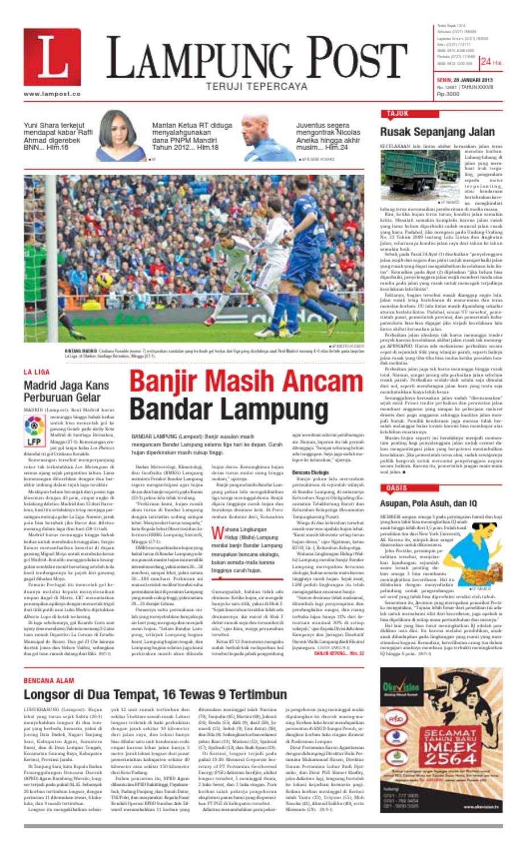 Lampungpost Edisi Senin 28 Januari 2013 By Lampung Post Issuu Gerr Karya Putu Wijaya Balai Pustaka