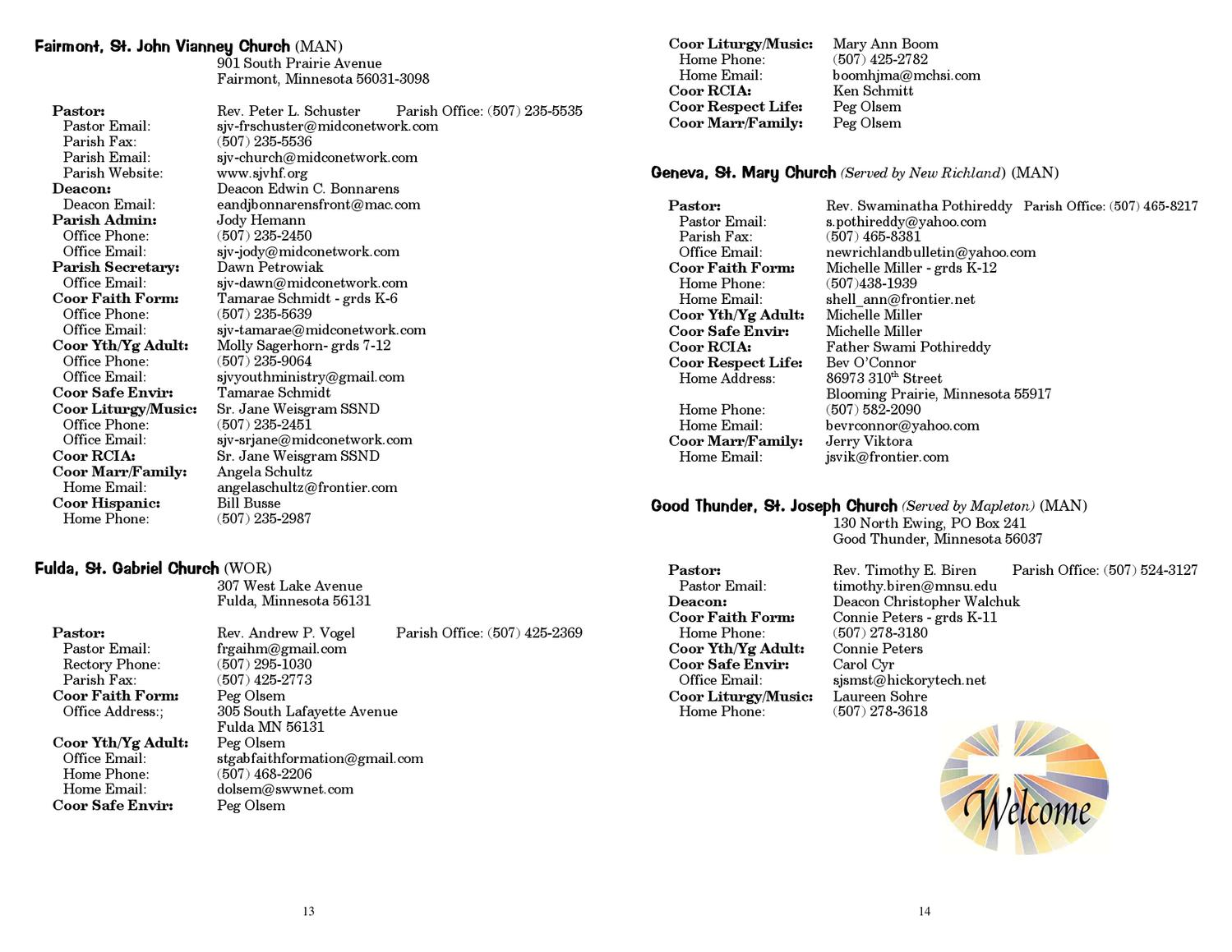 Diocesan Parish Directory by Diocese of Winona - issuu