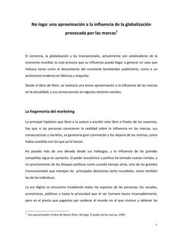 reputable site 45be5 f03be No logo. El poder de las marcas. by José-Carlos Castañeda Fernández-de-Lara  - issuu