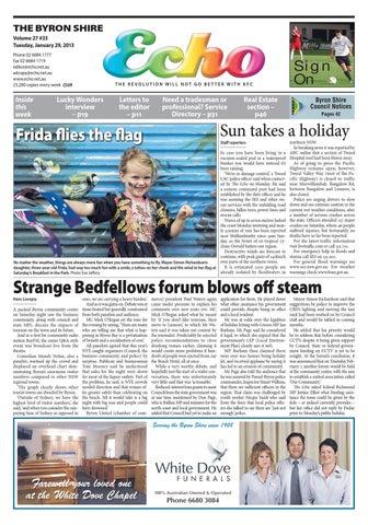 68ff840bcf2ab Byron Shire Echo – Issue 27.33 – 29/01/2013 by Echo Publications - issuu
