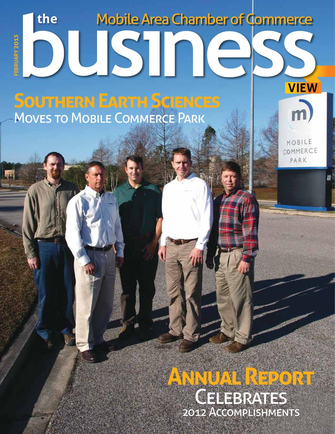 The Business View February 2013 By Mobile Area Chamber