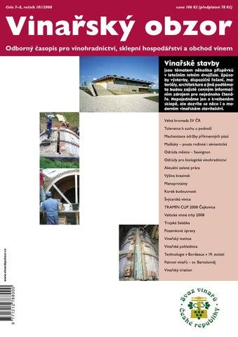 5a10369bc1 Vinařský obzor 7-8 2008 by Časopis Vinařský obzor - issuu