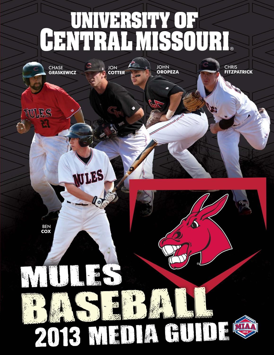 2013 Central Missouri Mules Baseball Media Guide by UCM ...