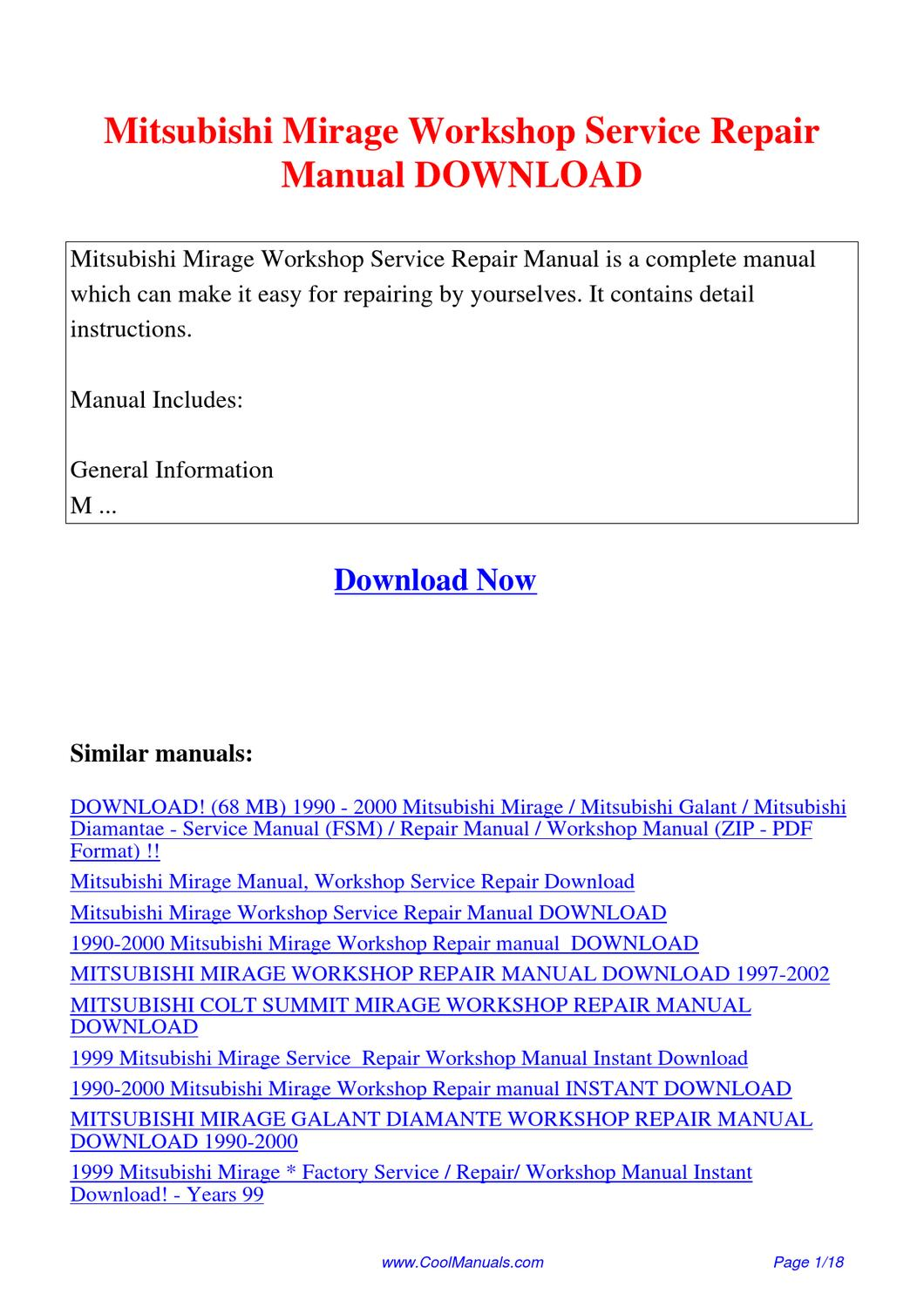 2002 Mitsubishi Galant Repair Manual Free Download Good Owner Fuse Box Layout Mirage Workshop Service By Kai Kaik Issuu Rh Com