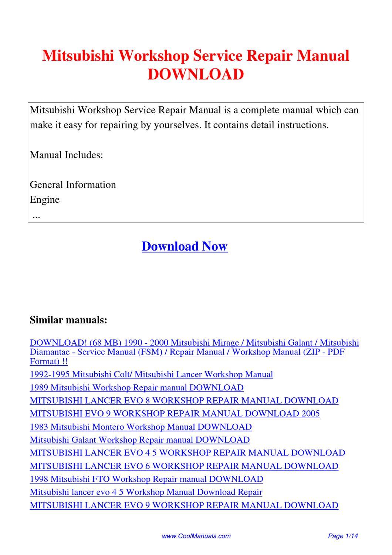 mitsubishi nimbus wiring diagram mitsubishi workshop service repair manual by kai kaik issuu  kai kaik
