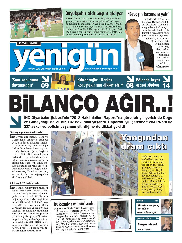 Diyarbakir Yenigun Gazetesi 30 Ocak 2012 By Osman Ergun Issuu