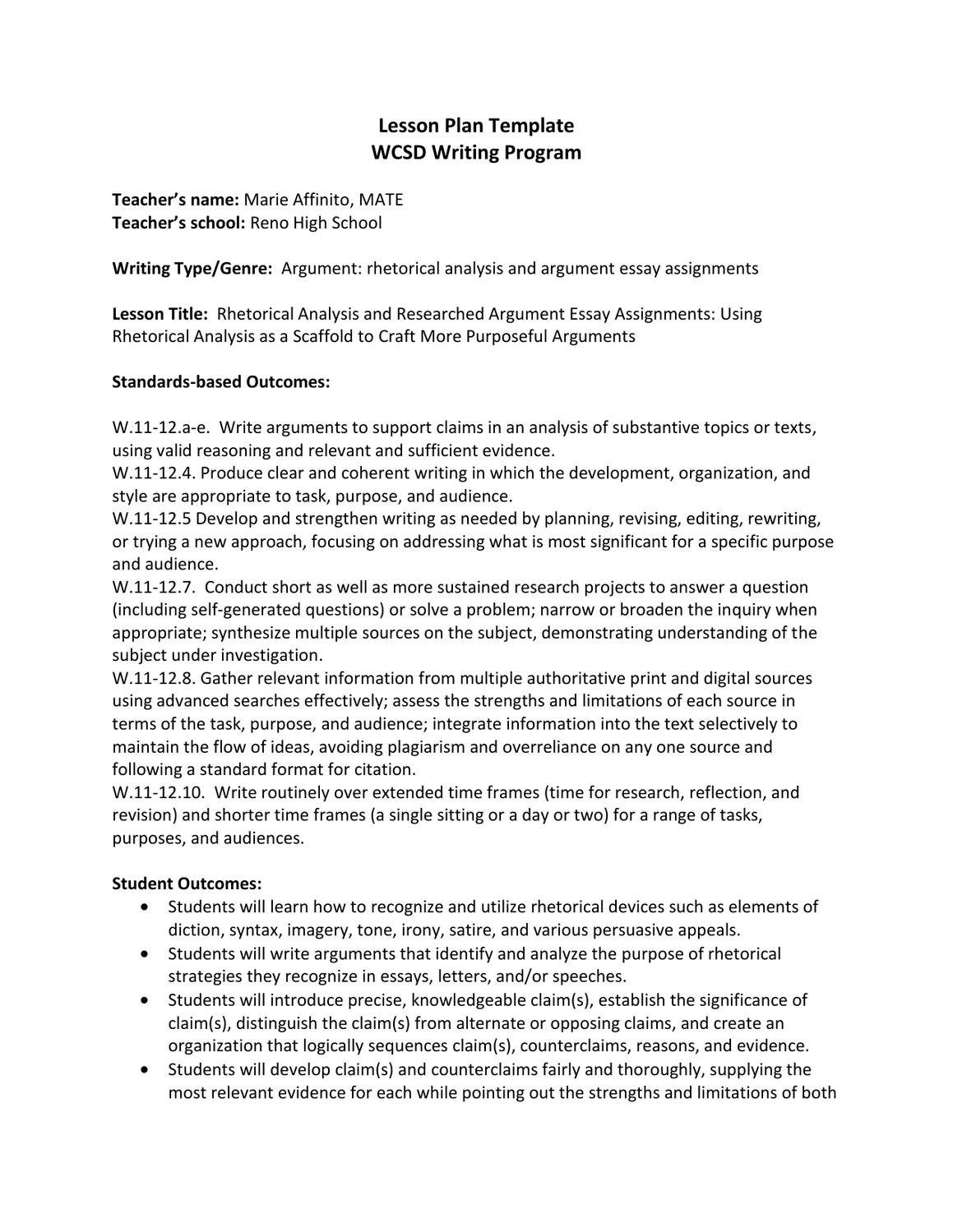 thesis for rhetorical analysis essays Demonstrate an advanced level of rhetorical analysis  please review your drafts and essays for  rhetorical analysis essay rubric introduction & thesis.
