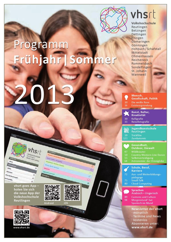 Programm Frühjahr Sommer 2013 By Volkshochschule Reutlingen Issuu