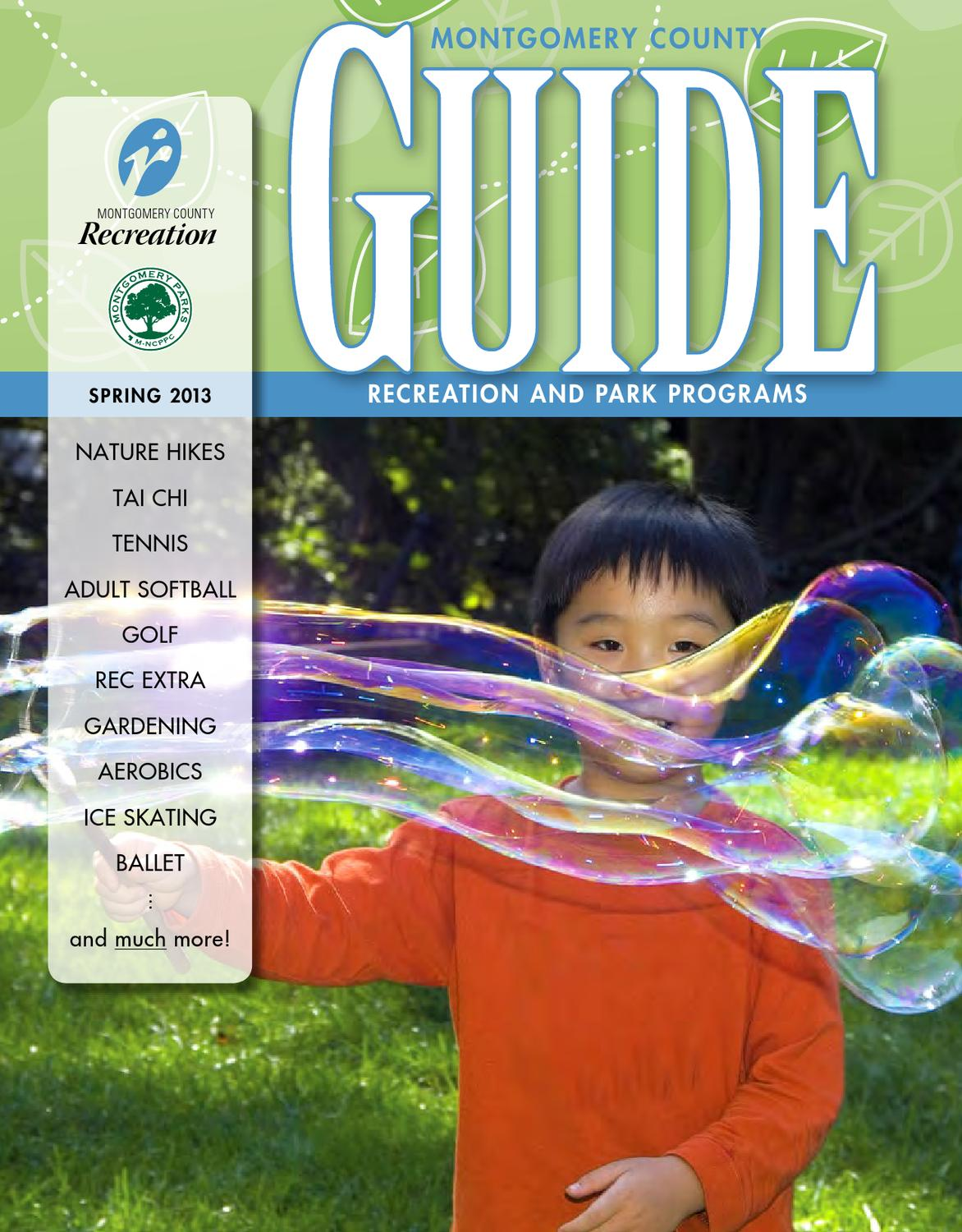 Fall 2016 Guide By Montgomery County Recreation Dept