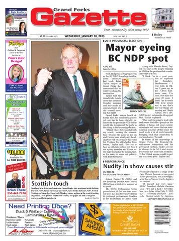 Grand Forks Gazette January 30 2013 By Black Press Media