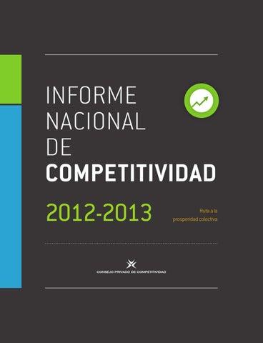 Informe nacional de competitividad 2012 – 2013 by ACIEM - issuu 43ee35728e3
