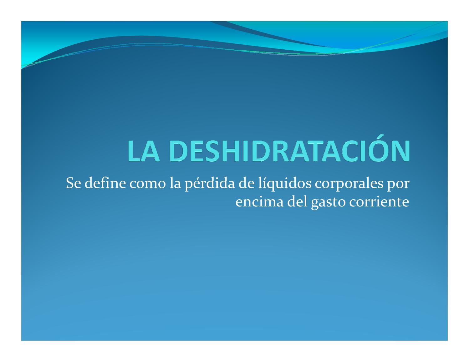 Signos de deshidratacion en ninos pdf