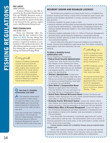 ky fishing and boating guide 2013-2014 by kentucky department of