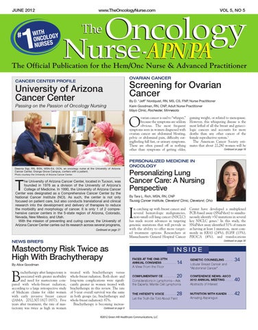 June 2012 Vol 5 No 5 By The Oncology Nurse Issuu